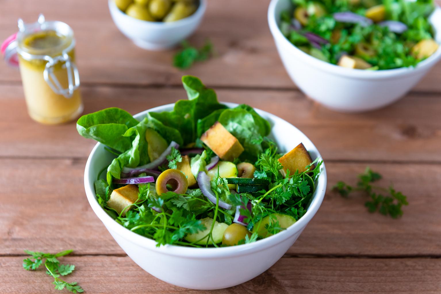 Grüner Salat mit Kerbel   Eat-Vegan
